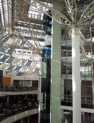 The most beautiful modern building in Glasgow-St Enoch centre, like a glass ship sailing