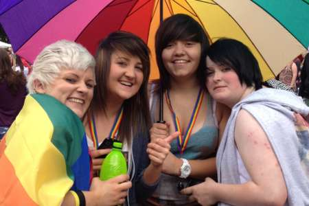 Girls at Gay Pride in Glasgow, 2012