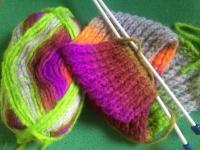 Rainbow scarf whispers - seeking Northern Lights